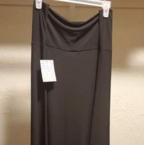 Lularoe SOLID BLACK Maxi 3XL